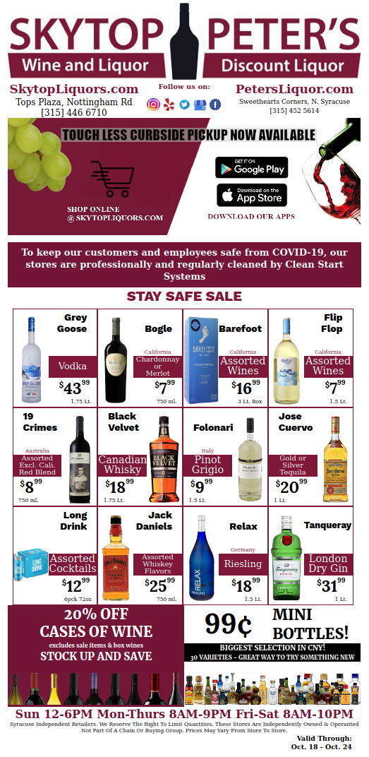 Syracuse wine and liquor sales
