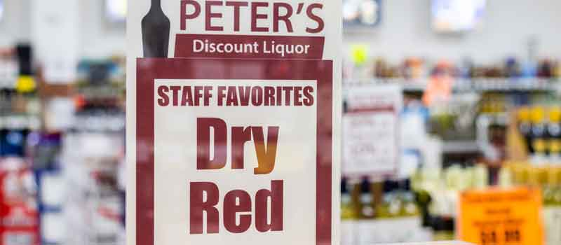dry red sign