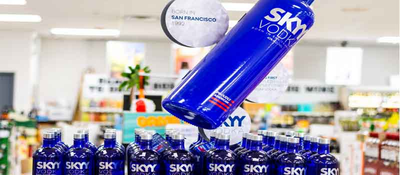skyy vodka display
